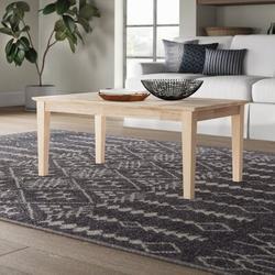 Mistana™ Lynn Solid Wood Coffee Table Wood in Brown/White, Size 18.0 H x 42.0 W x 24.0 D in   Wayfair 603AC55E29AF4D8490050C1C1EF632D7