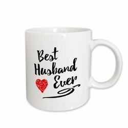 East Urban Home Best Husband Ever w/ Swirly Heart Coffee Mug Ceramic in White, Size 3.75 H x 4.0 W in | Wayfair 5DFD4488B68C4C8180D8FC719C41271C