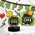 The Holiday Aisle® Mckenzie Video Game Party Birthday Paper Decoration Kit Paper in Black/Green | Wayfair CDF95668C617402F835A138B7DEBFE13