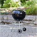 """Weber 22"""" Kettle Charcoal GrillSteel in Black/Gray, Size 39.5 H x 25.0 W x 22.5 D in   Wayfair 741001"""