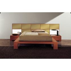 YumanMod Wynd Solid Wood Platform Bed Wood in Yellow, Size 41.25 H x 75.5 W x 90.25 D in | Wayfair CR53-CONF3-QN
