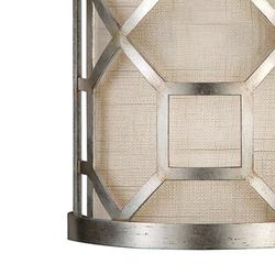 """Fine Art Handcrafted Lighting Allegretto 17"""" Sconce Fabric in Gray, Size 17.0 H x 8.0 W x 4.0 D in 