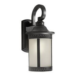 Forte Lighting Outdoor Wall Lantern Aluminum/Glass/Metal in Gray, Size 16.25 H x 7.5 W x 9.5 D in | Wayfair 17022-01-28
