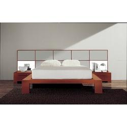 YumanMod Wynd Solid Wood Platform Bed Wood in Gray, Size 41.25 H x 87.5 W x 94.25 D in   Wayfair CR53-CONF4-CA