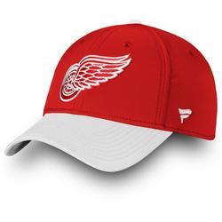 """Men's Fanatics Branded Red/White Detroit Red Wings Iconic Tech Speed Flex Hat"""