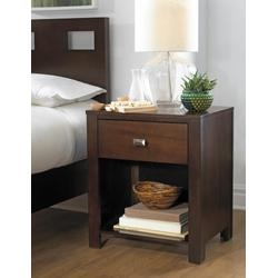 Riva One Drawer Nightstand in Chocolate Brown - Modus RV2681