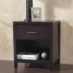 Nevis One Drawer Nightstand in Espresso - Modus NV2381