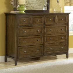 Paragon Eight Drawer Dresser in Truffle - Modus 4N3582