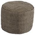 Signature Design Chevron Pouf - Ashley Furniture A1000438