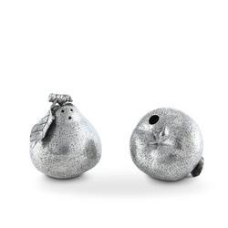 Vagabond House Harvest Pewter Pear Salt & Pepper Shaker Set Metal in Gray, Size 2.75 H x 2.5 W x 2.5 D in | Wayfair R116L