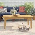 Birch Lane™ Summerton Teak Coffee Table Wood in Brown/White, Size 18.25 H x 48.0 W x 25.0 D in   Wayfair CM58388U