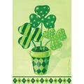 Toland Home Garden Pot O' Shamrocks 3'3 x 2'3 ft. House Flag in Yellow, Size 40.0 H x 28.0 W in | Wayfair 102590