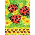 Toland Home Garden Ladybugs On Green 12.5 x 18 Inch Garden flag in Green/Yellow, Size 18.0 H x 12.5 W in   Wayfair 118233