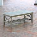 Birch Lane™ Brunswick Teak Coffee Table Wood in Gray, Size 18.25 H x 48.0 W x 25.0 D in   Wayfair D0783B97C09F42A0A4CDC4A147F91DE2