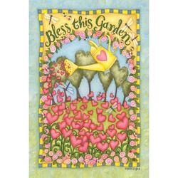 "Toland Home Garden Bless This Garden Garden flag in Beige, Size Small (Less than 13"" wide) Extra Small | Wayfair 119761"