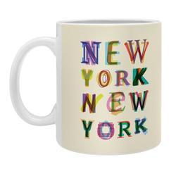 East Urban Home New York New York Coffee Mug Ceramic in Brown/White, Size 3.25 H x 3.0 W in | Wayfair EHME1597 33791640