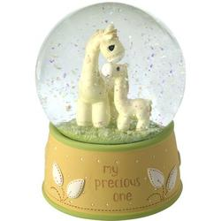 Precious Moments My Precious One Giraffe Musical Snow Globe Resin in Green/Yellow, Size 6.0 H x 3.94 W x 3.94 D in   Wayfair 179306
