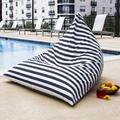Jaxx Twist Large Outdoor Friendly Bean Bag Chair & Lounger Performance Fabric/Mildew Resistant/Fade Resistant/Water Resistant in Blue | Wayfair