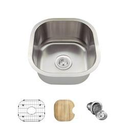 "MR Direct Stainless Steel 17"" x 16"" Undermount Kitchen SinkStainless Steel in Gray, Size 8.13 H x 17.0 W x 16.0 D in | Wayfair 1716-16-ENS"