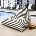 Jaxx Twist Large Outdoor Friendly Bean Bag Chair & Lounger Performance Fabric/Mildew Resistant/Fade Resistant/Water Resistant in Brown | Wayfair