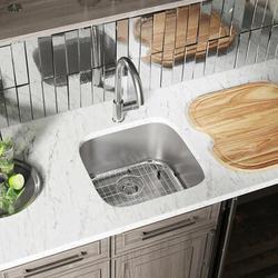 "MR Direct Stainless Steel 20"" x 20"" Bar SinkStainless Steel in Gray, Size 9.25 H x 20.0 W x 20.0 D in   Wayfair 2020-18"