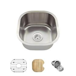 "MR Direct Stainless Steel 17"" x 16"" Undermount Kitchen SinkStainless Steel in Gray, Size 8.13 H x 17.0 W x 16.0 D in   Wayfair 1716-18-ENS"
