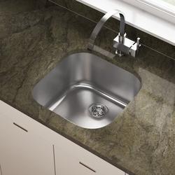 "MR Direct Stainless Steel 20"" x 20"" Bar SinkStainless Steel in Gray, Size 9.25 H x 20.0 W x 20.0 D in | Wayfair 2020-16"
