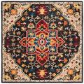 World Menagerie Portis Wool Charcoal/Cream Area Rug, Size 84.0 H x 84.0 W x 0.27 D in   Wayfair 03BA6E9A94F043169718CC927B6B9159