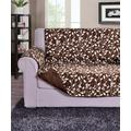 Elegance Linen Indoor Furniture Covers Chocolate - Natural Leaf Quilted Reversible Furniture Protector