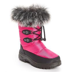 Adorababy Girls' Cold Weather Boots FUCHSIA - Fuchsia Snowflake Faux Fur Snow Boot - Girls