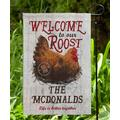 Personalized Planet Garden Flags - 'Welcome To Our Roost' Personalized Outdoor Flag