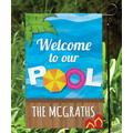 Personalized Planet Garden Flags - 'Welcome to Our Pool' Personalized Outdoor Flag