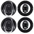 BOSS Audio Systems NX654 Onyx 6.5 Inch 400 Watt 4-Way 4 Ohm Full Range Car Audio Coaxial Stereo Speakers with Mylar Dome Tweeters, 2 Pairs