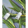 Urban Silver Women's Earrings SILVER - Sterling Silver Texture Rectangle Drop Earrings