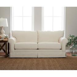 "Klaussner Furniture 84"" Rolled Arm Sofa Polyester/Polyester Blend in Black, Size 31.0 H x 84.0 W x 40.0 D in | Wayfair D16700SOAKLIVOR"