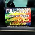"""Printing Express Plus 2-12""""x18"""" Custom Magnetic Car Signs Magnetic Auto Truck Signs - Free Design"""