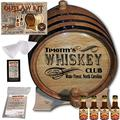 Personalized Whiskey Making Kit (203) - Create Your Own Canadian Rye Whiskey - The Outlaw Kit from Skeeter's Reserve Outlaw Gear - MADE BY American Oak Barrel - (Oak, Black Hoops, 3 Liter)