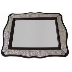 The Holiday Aisle® Plated Mirror Drip Challah Trays & KnifesWood in Brown/Gray, Size 0.5 H x 19.0 W x 15.0 D in   Wayfair