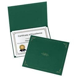 Oxford Certificate Holders, Green Diploma Holders, Letter Size, 25 per Pack (299235) (299605)