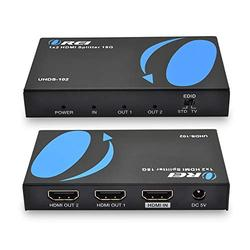 OREI UltraHD 4K @ 60 Hz 1 X 2 HDMI Splitter 1 in 2 Out 2 Port 2: 8-Bit - HDMI 2.0, HDCP 2.0, 18 Gbps, EDID, Duplicate / Mirror 4K Screens - UHDS-102