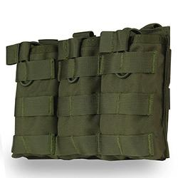 Tactical MOLLE Triple Open-Top Magazine Pouch Fast AK AR M4 FAMAS Mag Military Pouch Outdoor Paintball Airsoft 1000D Nylon