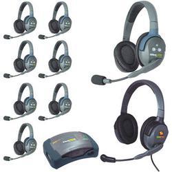 Eartec HUB9DMXD 9-Person Wireless Intercom with 8 Dual-Ear Headsets, 1 Plug-In Max HUB9DMXD