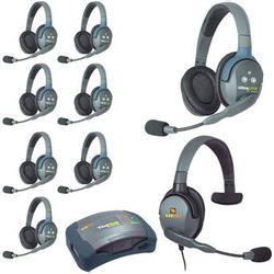 Eartec HUB9DMXS UltraLITE 9-Person HUB Intercom System with Max 4G Single Headset HUB9DMXS