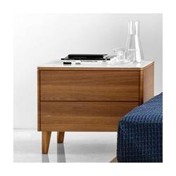 Calligaris Boston 2 - Drawer Nightstand Wood in Brown, Size 20.0 H x 24.12 W x 17.75 D in   Wayfair CS6046026201P2C20100000