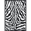 World Menagerie Braunstein Zebra Glam Black Ink Area Rug in Black/Brown/White, Size 129.0 H x 92.0 W x 0.38 D in   Wayfair