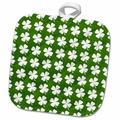 3dRose Four Leaf Clover PotholderCotton in Green/White, Size 10.0 W in | Wayfair phl_242315_1
