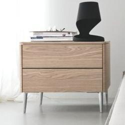 Calligaris Boston 2 Drawer Nightstand Wood in Brown, Size 19.75 H x 24.13 W x 17.75 D in | Wayfair CS604601602702700000000