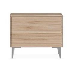 Calligaris Boston - 2 Drawer Ceramic Top Nightstand Wood in Brown, Size 19.75 H x 24.13 W x 17.75 D in | Wayfair CS604602602702C07400000