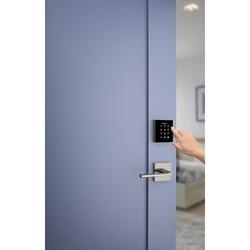 Kwikset Obsidian Keyless Entry Electronic Touchscreen Deadbolt Zinc in Gray, Size 3.5 H x 2.781 W x 0.68 D in   Wayfair 953OBN15SMT