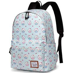 School Backpack for Girls,VASCHY Water Resistant Durable Casual Schoolbag Bookbag for Middle School Students in Blue Ice-Cream
